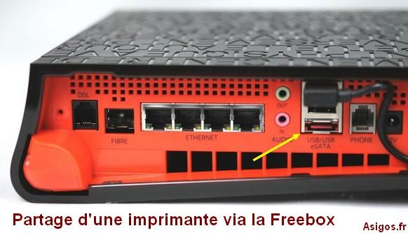 Partager une imprimante sur Freebox ..