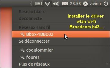 Ubuntu driver wi-fi wlan broadcom b43